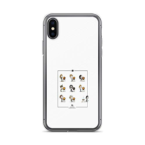 iPhone X Case iPhone Xs Case Clear Anti-Scratch Little Halloween Pumpkin Contest, Little hiddles Cover Phone Cases for iPhone X/iPhone Xs, Crystal Clear ()