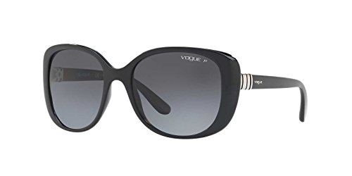 Vogue Eyewear Womens Sunglasses Black/Grey Plastic - Polarized - - Black Vogue Glasses