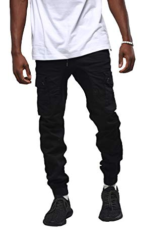 Evolution In Design Men's Cargo Twill Drop Crotch Jogger Pant Plus Size S to 4XL
