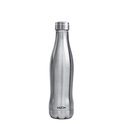 Milton Duke 500 Stainless Steel Water Bottle, 400 ml, Silver Price & Reviews