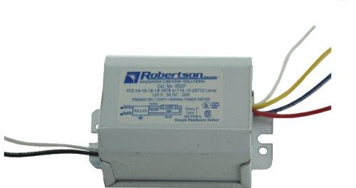 (ROBERTSON 3P10084 SS2P AM Fluorescent mBallast for 1 F20T12, F15T12, F14T12 or F15T8, F14T8 Linear Lamp, Preheat Self Start, 120Vac, 60Hz, Normal Ballast Factor, NPF)