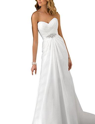 Günstige Hochzeitskleid Erosebridal Strand Weiß Brautkleid ZxxnP1C