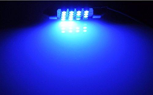 "Cutequeen 4pcs Blue 31mm(1.25"") 5050 4-smd 80 Lumens 12v Festoon Dome Light LED Bulbs De3175 De3021 De3022 3175(pack of 4)"
