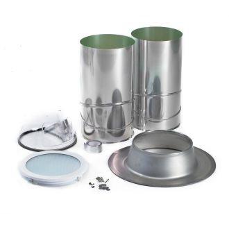 ODL TS14HRALUM 98% Reflective 14 in. Aluminum Flashing Tubular Skylight for Asphalt Shingle, Flat or Torch Down Roofs