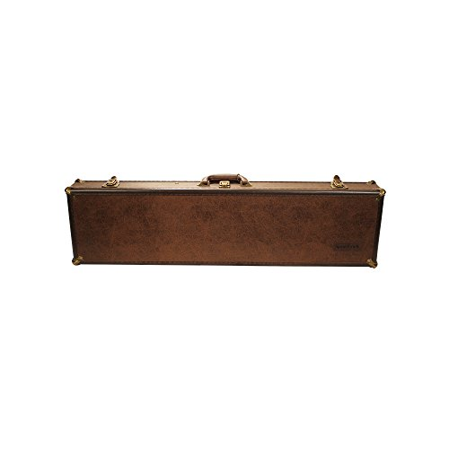 SportLock Cases LeatherLock Deluxe Take-Down Shotgun Case, Small, Brown