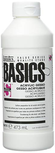 Liquitex BASICS Gesso Surface Prep Medium Tube,  16oz