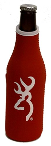 Browning Hunting Bottle Zipper Koozie Cooler Buckmark 7