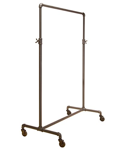 Econoco Pipeline Adjustable | 2-Way Ballet | Vintage Rolling Rack by Econoco