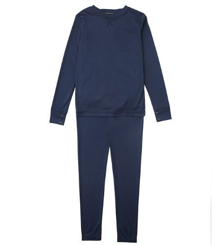 ClimateSmart Boys Long Sleeve Crew Neck and Pant - 2 PC - Thermal Underwear Duds Cuddl