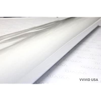 VViViD White Gloss Vinyl Wrap Roll with Air Release Technology (3ft x 5ft): Automotive