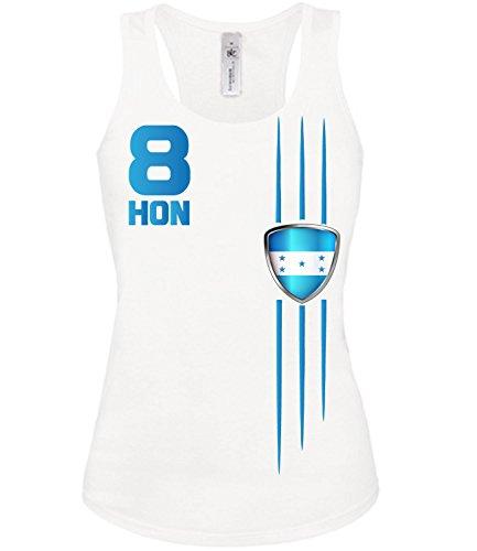 Copa del Mundo de fútbol - Campeonato de Europa de Fútbol - HONDURAS mujer camiseta Tamaño S to XXL varios colores S-XL Blanco
