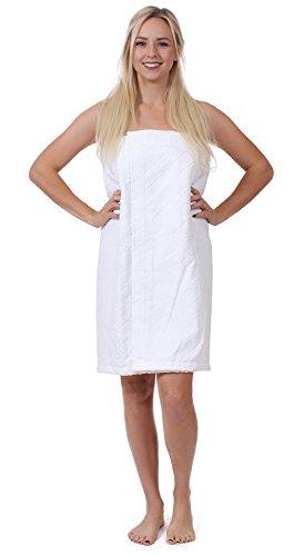 Turkuoise Women's Turkish Cotton Terry Velour Body Wrap with Adjustable (Velour Body)