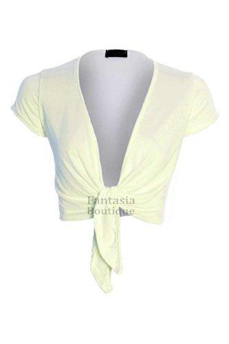 donna maglione da nbsp; Top maniche Bolero anteriore Ali Fantasia Avvolto colore Boutique cravatta donna da 36 xSqn4w