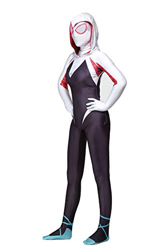 Spider-Man Gwen Stacy Cosplay Costume Into The Spideverse Costume Adult 3D Style (L) ()