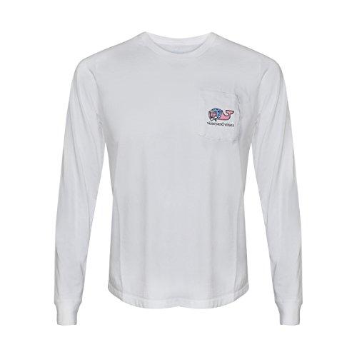 Vineyard Vines Mens Signature Graphic Long Sleeve Pocket T-Shirt (I Whale Lax White, S)