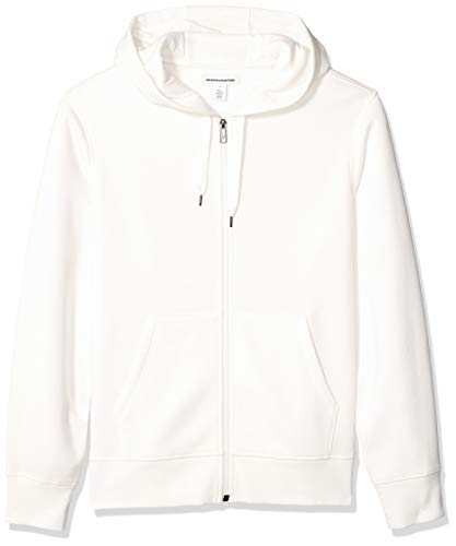 Amazon Essentials Men's Standard Full-Zip Hooded Fleece Sweatshirt, Off Off White, X-Small