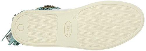 REPLAY Weber, Sneaker Alte Donna Mehrfarbig (White Green Beige)