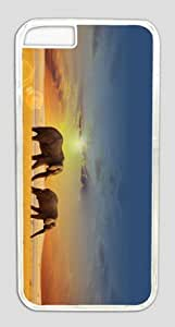 meilz aiaiTwo Elephants Walking Under the Setting Sun Customized Hard Shell Transparent iphone 6 plus Case By Custom Service Your Perfect Choicemeilz aiai