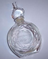 Vintage Panthere De Cartier Eau Legere Crystal Empty Perfume Bottle