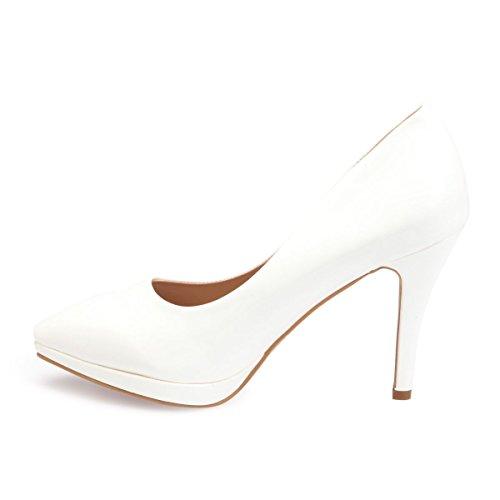 Material Blanco Mujer Sintético Zapatos Vestir De Modeuse La 1qawZIa