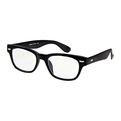 I NEED YOU Designer Woody Black Reading Glasses