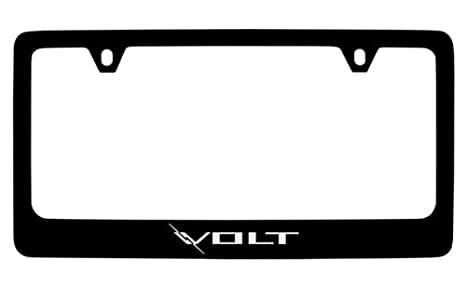 Amazon.com: Chevrolet Volt License Plate Frame (2 Hole / Brass ...