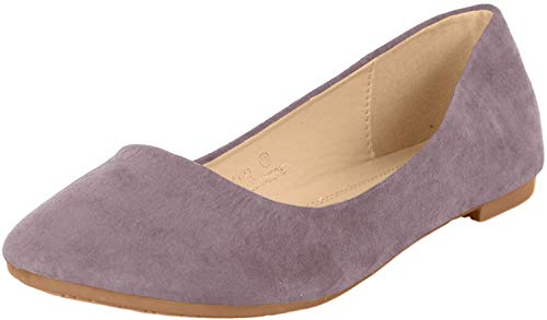 Bella Marie Stacy-12 Women's Round Toe Slip On Ballet Flat Shoes