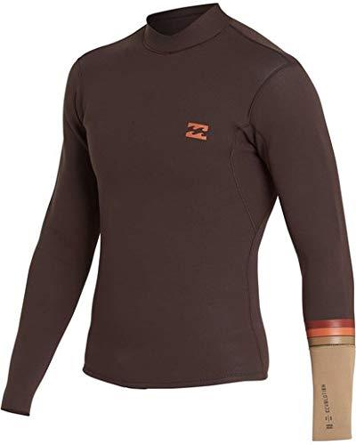Billabong Men's 2/2 Revolution Dbah Long Sleeve Jacket Seal Brown X-Large