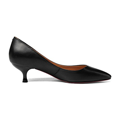 Shoes Pointy Heels Slip Black Wedding Pumps On Stiletto Office Party For Women's Toe Black Court Kitten x0Fxa