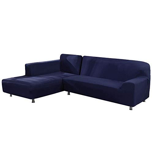 Umiwe Funda Sofá Chaise Longue Brazo Izquierdo Elástico Cubre Sofa Protector para Sofá en Forma de L Acolchado Brazo Izquierdo