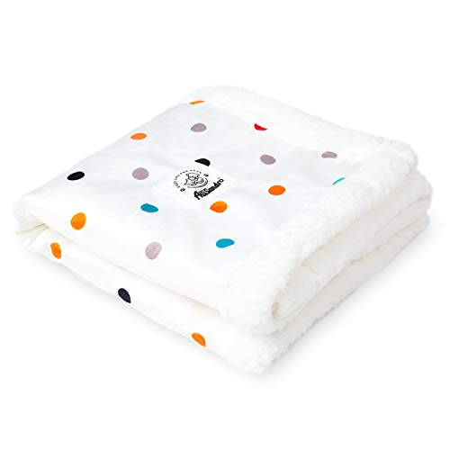 Allisandro Premium Fluffy Dog Blanket- [Upgrade Double Layer]- Soft and Warm Fleece Pet Blanket