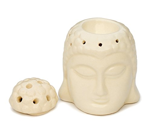 Buddha Fend off Candle Ceramic aromatherapy furnace 6 Inch Essential Oil Burner - Aromatherapy Wax Tart Melt Warmer Diffuser Tealight Holder - Pure Aroma Lamp for Living Room / Home Decorations