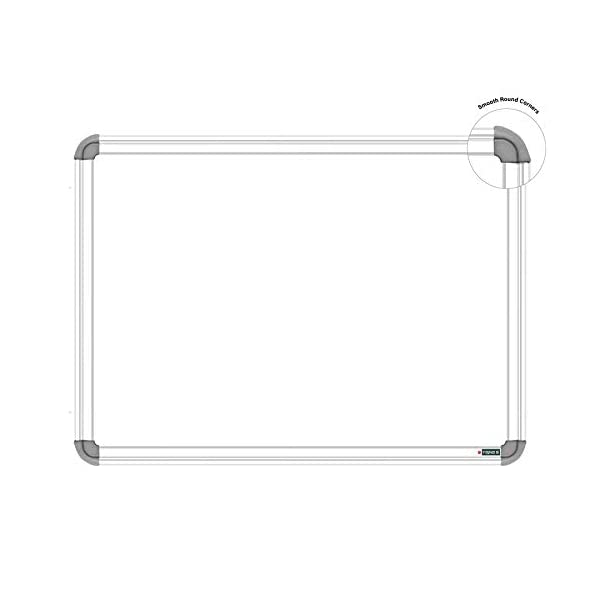 YAJNAS Non Magnetic 1.5x2 Feet Double Sided White Board and Chalk Board Both Side Writing Boards, one Side White Marker and Reverse Side Chalk Board Surface - Pack of 1 5
