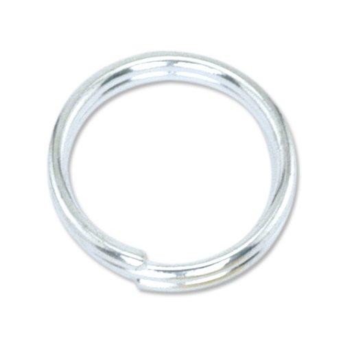 (Beadalon Split Ring 5mm Silver, Plated, 25-Piece)