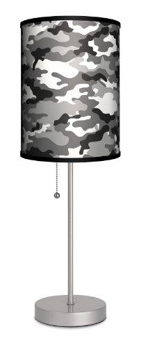 Lamp-In-A-Box SPS-VAR-BLACA Various Black Camo Sport Lamp, Silver