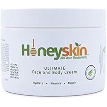 Ultimate Face & Body Cream – with Manuka Honey & Aloe Vera – Eczema, Psoriasis, Acne, Rash, Itch & Redness Treatment – Natural Skin & Facial Moisturizer (8 oz) - Made in USA