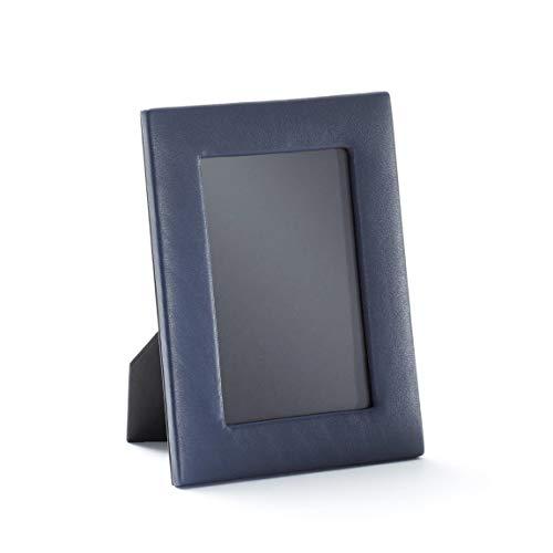 4X6 Portrait Photo Frame - Full Grain Leather - Navy (Blue)