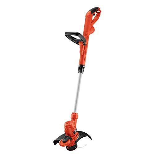 (BLACK+DECKER 14 in. 6.5-Amp Corded Electric Straight Shaft Single Line 2-in-1 String Grass Trimmer/Lawn Edger)