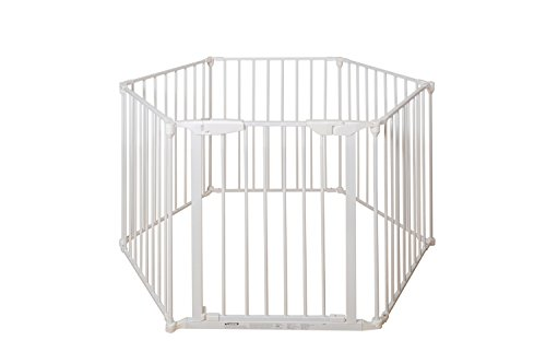 Price comparison product image BuyHive 6 Panels Fireplace Fence Safety Playpen Home Pet Dog Fence Gate Freestanding Play Yard