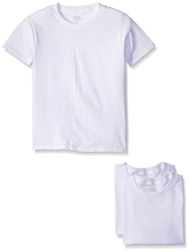 Fruit of the Loom Big Boys' White Crew Tee , White, Large (Pack of 3) ()