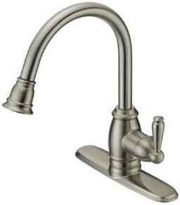 Delaney Hardware P32102S-15 Silver Oak 3000 Series Single Handle Kitchen Faucet Stainless Steel