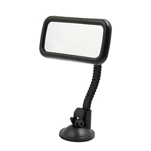 sourcingmap Black Adjustable Front Rearview Suction Cup Mirror for Car...