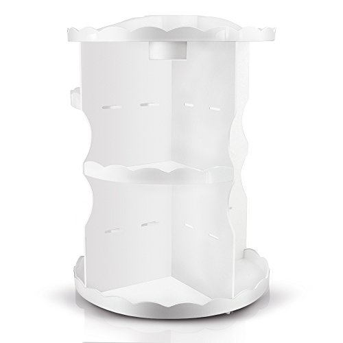 360 degree spinning makeup organizer
