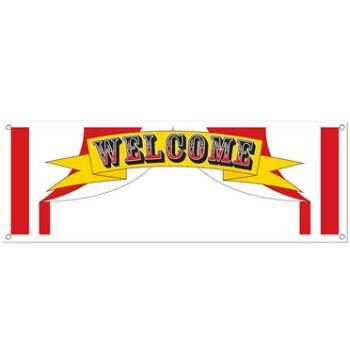 Circus Halloween Party (Welcome Sign Banner Party Accessory (1 count) (1/Pkg))