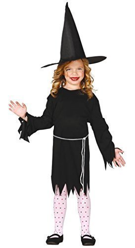 (Girls Black Witch Gothic Salem Halloween Fancy Dress Costume Outfit 5-12 Years (7-9)