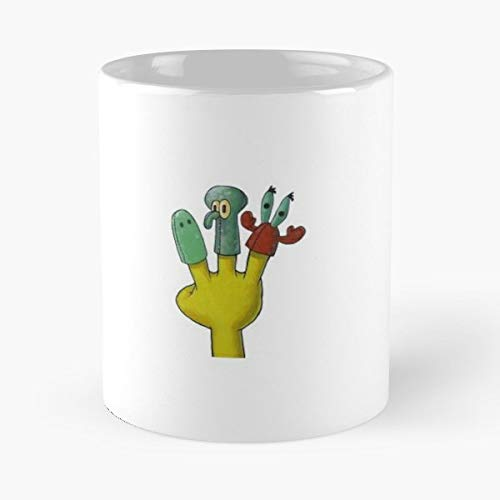 Spongebob Finger Puppets Funny - The Office 11 Ounces Funny Coffee Mugs.]()