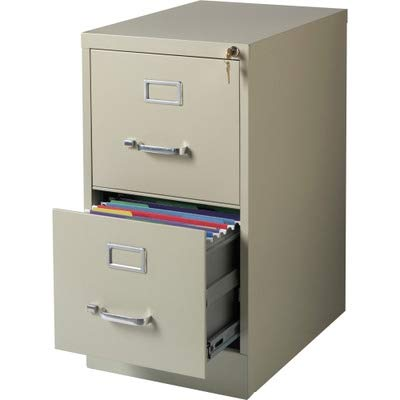 Lorell LLR42290 2-Drawer Vertical File, 15