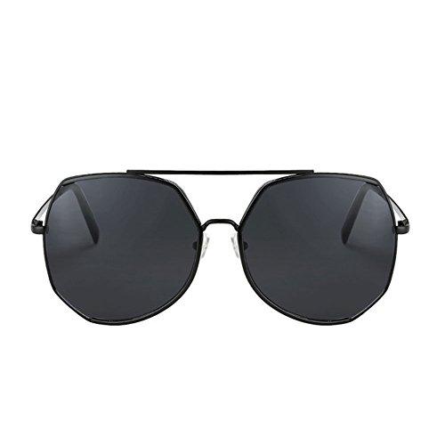 Color Femenina Larga Marco de de Sol Protección Cara Sol Cara Gafas UV Gafas DT 2 Grande de de Redonda qIOaTg