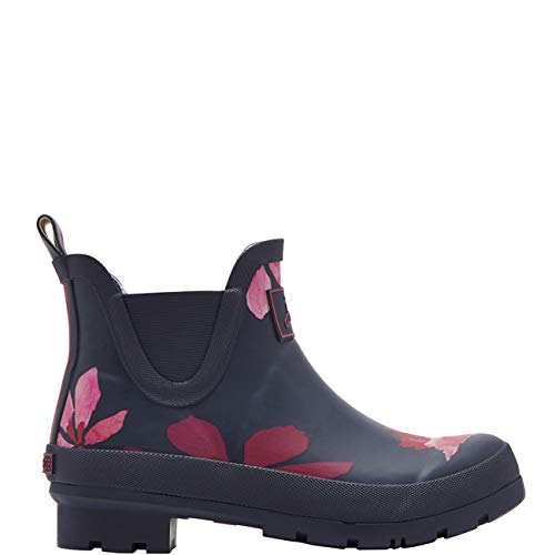 Chestnut French mujer para Wellibob Leaves Botas Joules goma de Navy WwB1xUq8