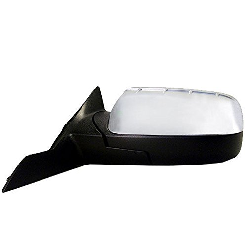 Ford Taurus Aftermarket (2008-2009 Ford Taurus, Mercury Sable Power Heated with Puddle Lamp/Light (without Memory) Chrome Cover/Cap manual Folding Rear View Mirror Left Driver Side (08 09))